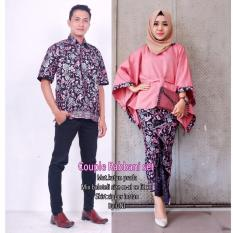 Batik Couple / Baju Batik Sarimbit Couple Robbani - PINK