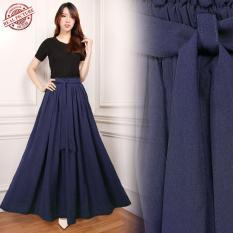 Cj Collection Rok maxi payung panjang wanita jumbo long skirt Amaya