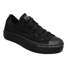 Converse Chuck Taylor All Star Classic Colour Low Top Sepatu Sneakers - Black Mono