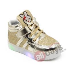 Dea Sepatu Sneaker LED Anak Perempuan 1611-108 - Golden