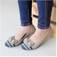 Flat Shoes Gratica AW26 Abu Navy 100% ASLI ORIGENAL MADE IN CIBADUYUT