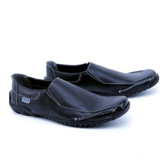 Garsel Sepatu Formal Pantofel Loafer Moccasin Slipon Trendy GCN1604 Kulit Asli - Hitam