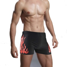 Kualitas Tinggi Murah Swimwear Men Swimming Trunks Hot Swimsuits Boxer Shorts Flame Print Swim Suit Beach Wear Plus Ukuran XL-XXXL -Intl