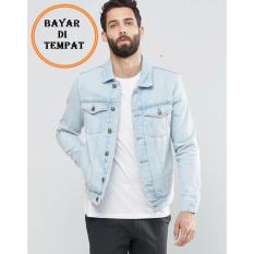JAKET JEANS DENIM LIGHT BLUE (biru pudar) & BIOWASH (biru dongker) / BEST SELLER