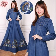 SB Collection Dress Maxi Triana Gamis Jeans Longdress Wanita