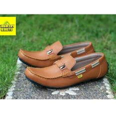 Sepatu Formal Slip-on Casual Pria Model Terbaru - COUNTRY BOOTS GLAREOLA - Tan