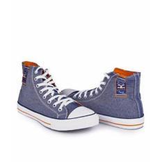 Sepatu Original Carvil Canvas High Cut Shoes - Navy Blue