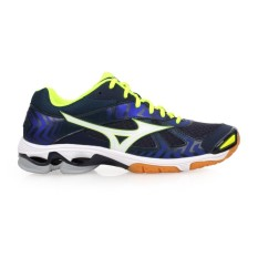 Sepatu voli Mizuno V1GA186023 Wave Bolt 7 - Dress Blues White Safety Yellow