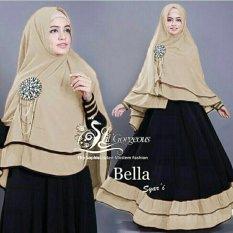 Shopping Yukz Baju Gamis Maxi Dress Muslim Wanita Syari 2in1 BELLA HITAM-MOCCA ( Dapat Jilbab ) / Dress Muslim / Gamis Wanita / Baju Muslim / Hijab Muslim / Fashion Muslim / Syar'i Muslim / Maxi Dress Lengan Panjang / Gamis Modern