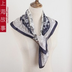 Story TRUE silk in Shanghai generous towel spring autumn 100 take small scarf of Fashion Hijab - intl