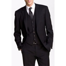 Tom Browne - Jas Formal Pria Best Quality / Jas Formal Maskuline - Black