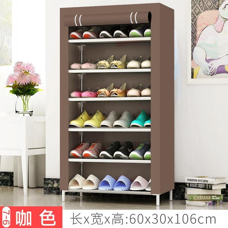R10 Lemari Sepatu - Rak Sepatu Kain Portable Import Serbaguna 6 Susun