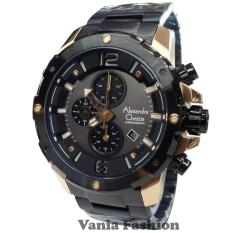 Alexandre Christie AC6410MC-C Jam Tangan Pria Stainless Steel Hitam Rose Gold