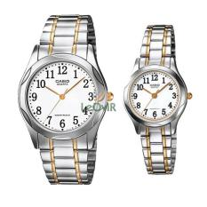 Casio Couple MTP Dan LTP-1275SG-7B - Jam Tangan Couple - Silver White - Strap Stainless Steel