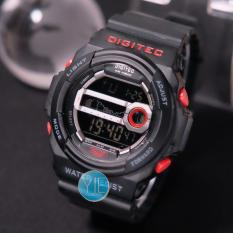 Digitec Jam Tangan Sport Pria DG 2402 T Army Black Original Anti Air - Hitam Merah
