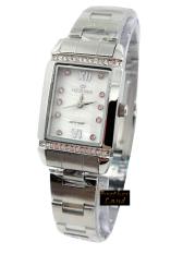 Hegner - H12821L - Jam Tangan Wanita - Stainless Steel - Silver Dial Putih