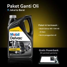 Mobil Delvac MX™ 15W-40 (5 liter) Paket Ganti Oli (Jakarta Barat)