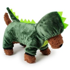 RHS Online Dinosaur Hoodie Pet Dog Costume Clothes Pet Coat Sweater Size S - intl