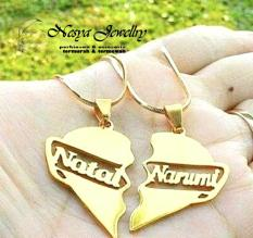 Set Kalung Couple Nama Lapis Emas (2.Pcs)... Nesya Jewellry