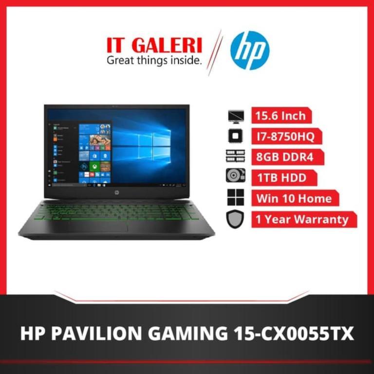HP Pavilion Gaming Laptop 15-cx0055tx - Ci7-8750H - 8GB - 1TB - GTX1050 - 15.6