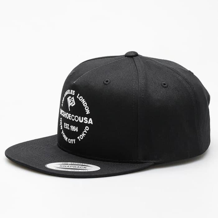 JUAL      Topi DC Shoes Starlighter Snapback Black By Yupoong ORIGINAL / topi0v1245