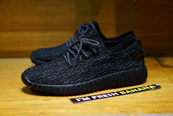 Sepatu Sneaker Pria YZY Hitam Full Black - 007DS
