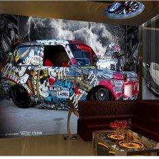 Ramah Lingkungan 3D Besar Mural Papel De Parede Graffiti Mobil Latar Belakang untuk Kamar Tidur Ruang Tamu Sofa TV Wallpaper
