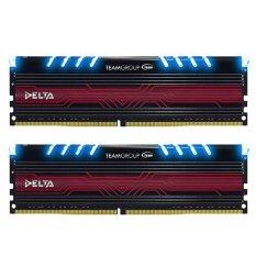 Team Delta BLUE DDR4 8GB (4GB X 2 ) PC 2400 - Biru