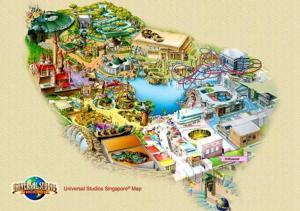 Universal Studios Singapura: Peta