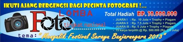 Lomba Foto Festifal Serayu Banjarnegara 2013