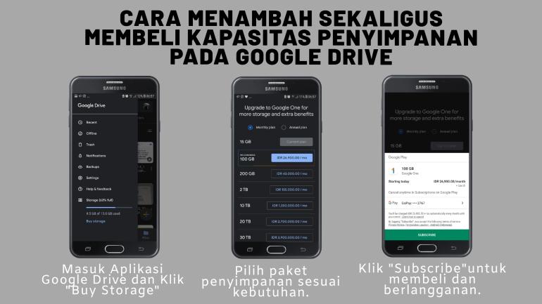 cara menambah kapasitas google drive