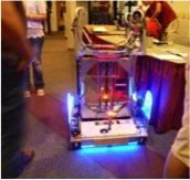 A robot from the University of Idaho on display.