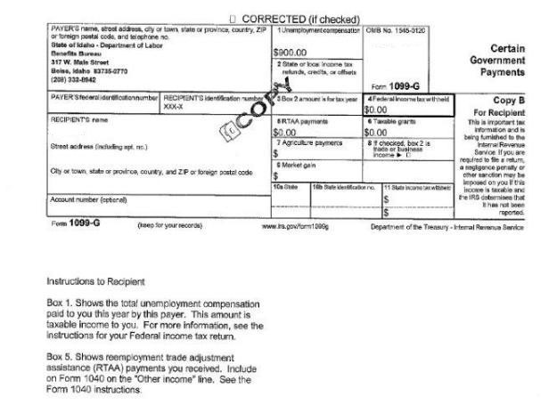 1099 G Tax Form Idahowork