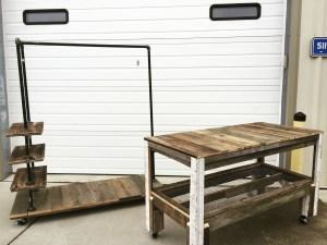 Display furniture for clothing merchandising