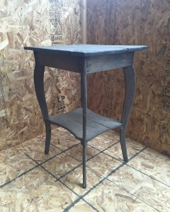 fire damaged end table