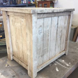 shiplap end table rear