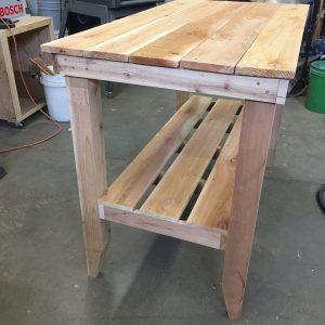 cedar table side