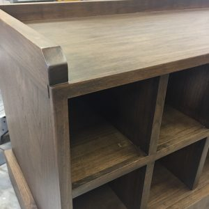 black walnut entry bench front top