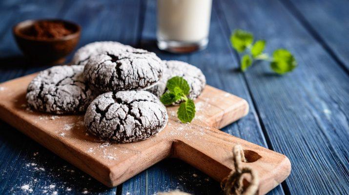 chocolate Kris Kringle cookies