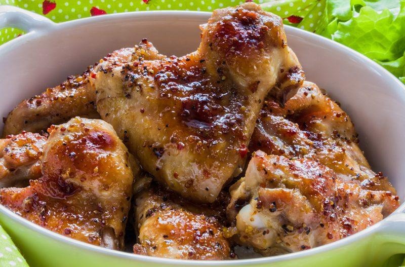Wood Stove Honey Mustard Chicken