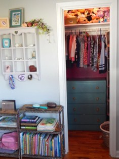 put the dresser in the closet to save space