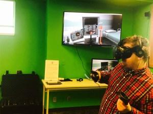 Man trying VR - Idaho Virtual Reality