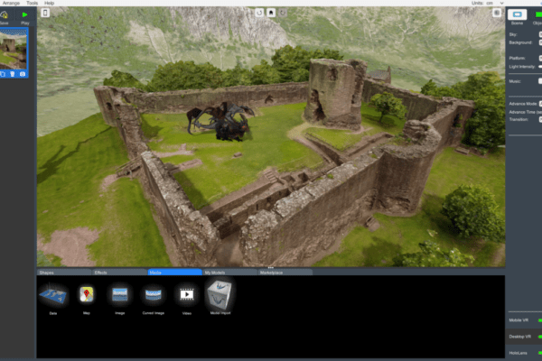 Combining three Sketchfab models to set up an unforgettable VR experience