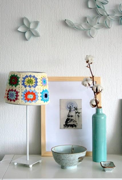 My crochet lamp/cuschion