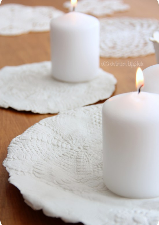 Xmas Ida DIY #4: lace candle holder