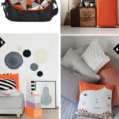 Colors love #3: orange, grey, black