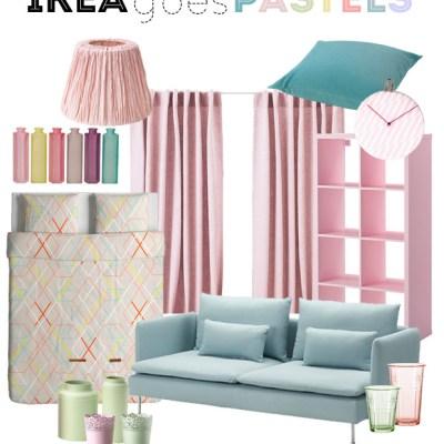 Ikea goes pastels