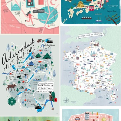 6 illustrated maps