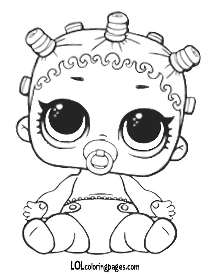 Раскраска Малышка ЛИЛ 1 серия