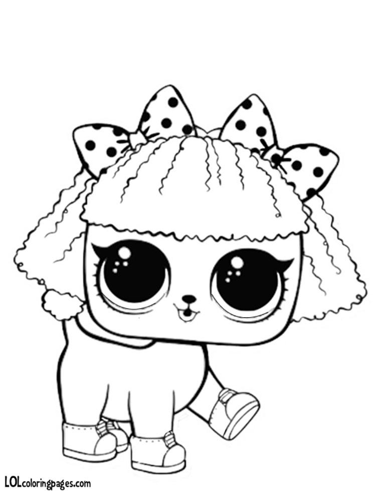 Раскраски ЛОЛ питомцы Петс (куклы животные) Распечатать ...